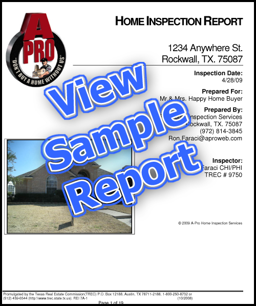 Sample Home Inspection Report